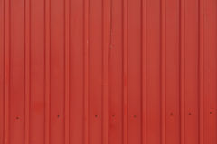 Red orrugated steel sheet Royalty Free Stock Photos