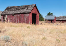 Red outbuildings Stock Photography