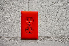 Red Outlet Royalty Free Stock Image