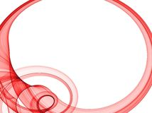 Red oval frame Royalty Free Stock Image