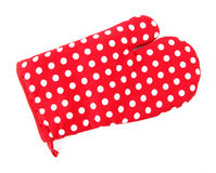 Red oven glove Stock Image