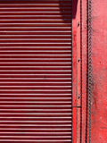 Red overhead door Stock Images