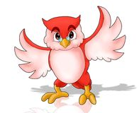 Red owl waving it wing Stock Images