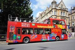 Red Oxford tour bus. Royalty Free Stock Image