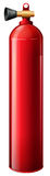 A red oxygen tank Royalty Free Stock Photos