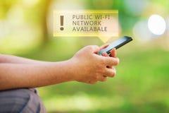 Red pública de Wi-Fi disponible imagenes de archivo