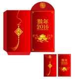 Red packet  Chinese wording Translation is  Year of Monkey Royalty Free Stock Photography