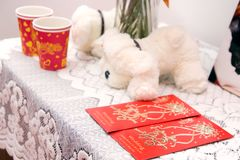 Red packets for newlyweds Stock Photography