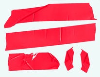 Red Packing Tape on White Royalty Free Stock Image