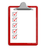 Red pad holder  with check boxes. Stock Image