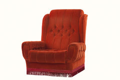 Red padded chair Royalty Free Stock Photo
