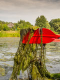 Red paddle Stock Photography