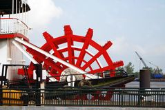 Red Paddle Wheel Stock Photography