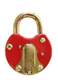 Red padlock Stock Photos