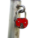 Red padlock Stock Photography