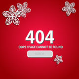 Red 404 Page Design Stock Image