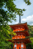 Red Pagoda Japan Stock Photos