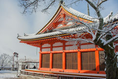 Red Pagoda at Kiyomizu-dera Temple. Royalty Free Stock Photo