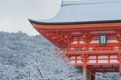 Red Pagoda at Kiyomizu-dera Temple. Royalty Free Stock Photography