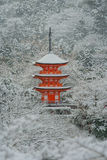 Red Pagoda at Kiyomizu-dera Temple. Royalty Free Stock Photos