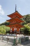Red Pagoda in Kizyomizu Royalty Free Stock Image