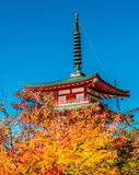 Red pagoda shrine Stock Image