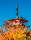 Red pagoda shrine Stock Image