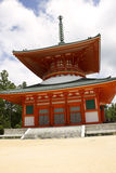 Red Pagoda Temple on Mount Kōya Royalty Free Stock Photography