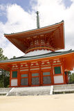 Red Pagoda Temple on Mount Kōya Royalty Free Stock Image