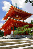 Red Pagoda Temple on Mount Kōya Stock Image
