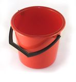 Red pail. On white background Royalty Free Stock Photo