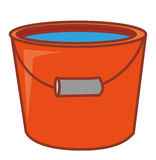 A red pail Stock Images
