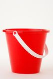 Red pail. With white handle Stock Image