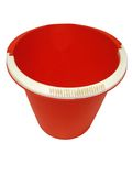 Red pail Stock Image