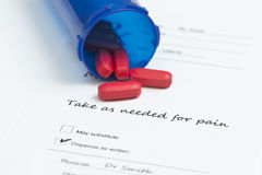 Red Pain Medication Royalty Free Stock Photography