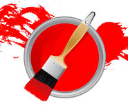 Red paint stock illustration