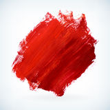 Red paint artistic dry brush stroke vector background Stock Photo