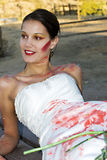Red Paint Bride Royalty Free Stock Image