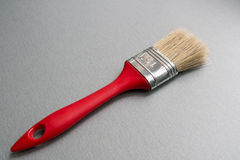 Red paint brush Stock Photo