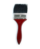 Red paint brush isolated on a white background Stock Photo
