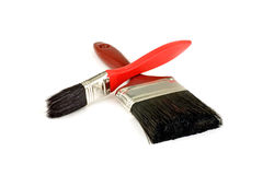 Red paint brushes Royalty Free Stock Image