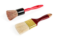 Red paint brushes isolated on the white background Royalty Free Stock Photography