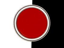 Red Paint can Royalty Free Stock Image