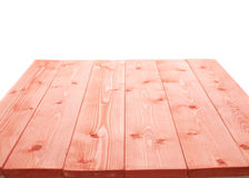 Red paint coated wooden boards Royalty Free Stock Photography