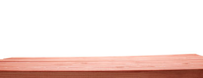 Red paint coated wooden boards. Red paint coated wooden pine boards as a copyspace background composition isolated over the white background stock image