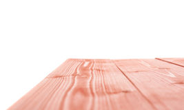 Red paint coated wooden boards Royalty Free Stock Photos