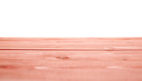 Red paint coated wooden boards Stock Photos