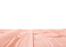Red paint coated wooden boards Stock Images
