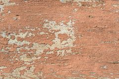 Red paint crack old rough surface wooden Stock Images
