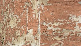 Red paint crack old rough surface wooden texture Stock Image
